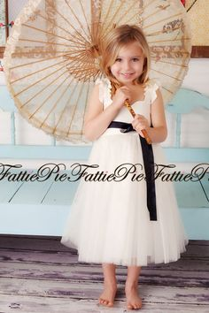 Ivory Flower Girl Dress by FattiePieClothing on Etsy