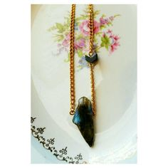 Labradorite and jasper gemstone necklace by SuperFantasticJulie #focus #healing #labradorite #jasper #gemstones #etsy #etsyshop