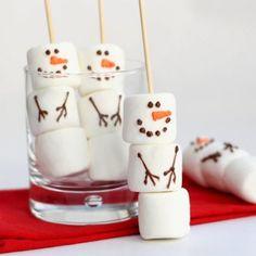 diy marshmallow snowman stirrers