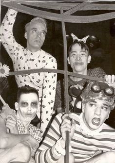 Michael Alig, Sacred Boy, Ernie Glam and Sushi at The Shelter after/outlaw party in an abandoned factory in Chicago. Early 90's - I'm sure I don't remember the exact year.
