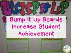 Increase student achievement by using bump it up boards. Easy to make by teachers and students, and easy to use by students.