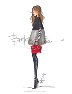 Brittany Fuson: red bag, gift guide, henri bendel, cape| Be inspirational❥|Mz. Manerz: Being well dressed is a beautiful form of confidence, happiness & politeness