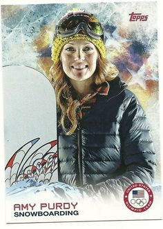 2014 Topps Winter Olympics Team AMY PURDY # 69 Snowboarding - SET BREAK