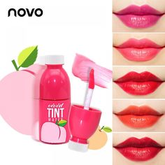 Brand Fruit Stained Lip Gloss Waterproof Long Lasting Non-Stick Cup Makeup Liquid Lipstick Sweet Fruit Red Lip Tint Gloss Matte, Pink Lip Gloss, Pink Lips, Lipstick Primer, Makeup Lipstick, Liquid Lipstick, Matte Lipstick, Claire's Makeup, Nude Makeup