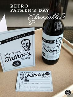 easy Father's Day printables and ideas