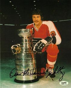 Autographed Dave Schultz Picture - w/ The Hammer Flyers Hockey, Hockey Teams, Ice Hockey, Flyers Stanley Cup, Philadelphia Sports, Good Old Times, Nhl Players, Detroit Red Wings, Football
