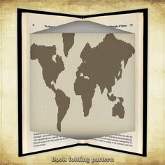 33 best paper magic images on pinterest altered book art paper book folding pattern world map for 272 by foldingbookpatterns gumiabroncs Image collections