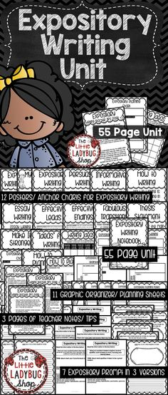 You will LOVE using this Expository Writing Unit to assist you in teaching Expository Writing. This packet was created to assist you with teaching Expository writing. It contains components from my lessons and activities I use to teach my students. This packet will grow as I teach and create for my students. Right now I have included 55 pages of tools to assist you in teaching Expository Writing.