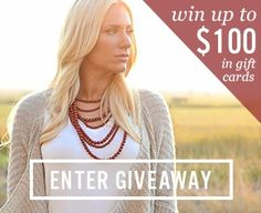 Click here for easy entry into a giveaway from RubyClaire Boutique for up to $100 in gift cards!