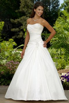 Hot New White Ivory Taffeta Wedding Dress Bridal Gown 8 10 12 14 16 18 in Clothes, Shoes & Accessories, Wedding & Formal Occasion, Wedding Dresses Perfect Wedding Dress, White Wedding Dresses, Bridal Wedding Dresses, Bridesmaid Dresses, Ivory Wedding, Wedding Ceremony, Sparkle Wedding, Wedding Venues, The Dress