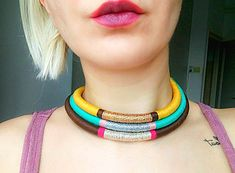 Check out this item in my Etsy shop https://www.etsy.com/listing/243737715/boho-choker-tribal-necklace-african