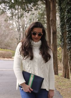 Cable knit sweater c
