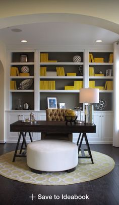 Charcoal Gray backdrop in bookshelves