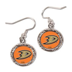 Women's Anaheim Ducks WinCraft Round Dangle Earrings, Your Price: $9.99