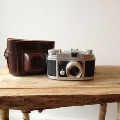 Vintage Camera   Hanimar 35mm made in Germany with leather case by solsticehome, $49.00 at Maven Collective in Portland Or. in my etsy shop