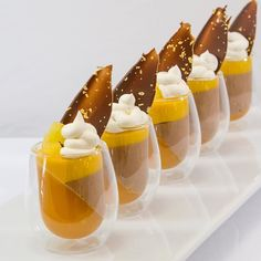 Pasión fruit gelee Manjari chocolate Mousse Mango Cremeux Coconut Whipped…