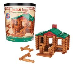 Lincoln Logs 100th Anniv. 111 Piece Building Set w/ Replica Guide