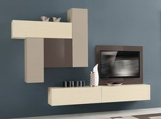 Contemporary Italian Wall Unit VV 3911 - $2,455.00