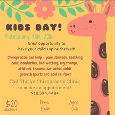 Chiropractic Marketing: Kids Day || Thrive Chiropractic Clinic || Tulsa, OK