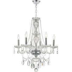 Provence Venetian Style 6-light Full Lead Crystal Chrome ($342) ❤ liked on Polyvore featuring home, lighting, ceiling lights, grey, chrome ceiling lights, gray chandelier, hanging chain lamps, bulb light and incandescent lights