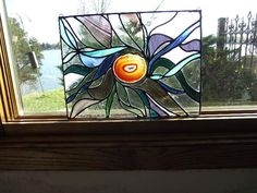 Stained glass with geode