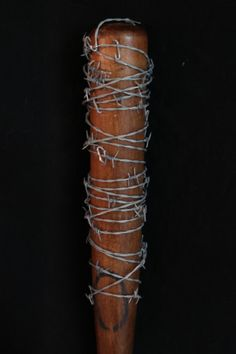 Lucille baseball bat, as seen in the walking dead and fallout.