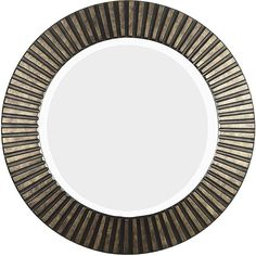 This Hecate bronze wall mirror makes a bold statement with the textured frame that hints at an Egyptian flair. The bronze finish of the carved-ring frame will be a focal point. This beveled-edge mirror is constructed of polyurethane for durability.