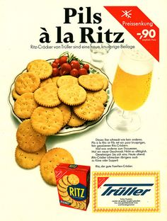 Ritz Vintage Ads, Vintage Posters, Salty Snacks, Ritz Crackers, Old Ads, Aladdin, Biscuits, Sunshine, Food And Drink