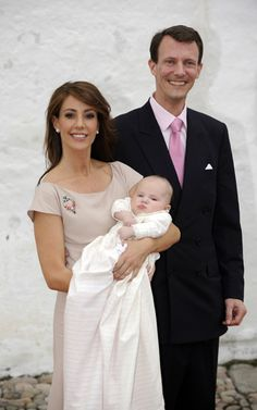 Prince Joachim of Denmark, Princess Marie and little Princess Athena Marguerite Françoise Marie
