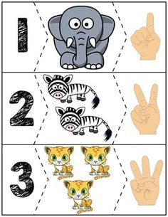 Teach counting skills with these awesome zoo animals. Great for teaching counting skills and number recognition for Quick prep and great for math centers! Preschool Jungle, Numbers Preschool, Preschool Math, Kindergarten Worksheets, Autism Activities, Montessori Activities, Preschool Activities, Down Syndrom, Math For Kids