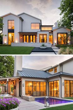 Farmhouse Exterior Design Ideas - Search farmhouse exterior house design images. Discover design ideas as well as building motivation to improve your house's farmhouse exterior as well as facade as ... #farmhouseexterior #farmhouseideas #farmhouseexteriorpaintcolorssherwinwilliams