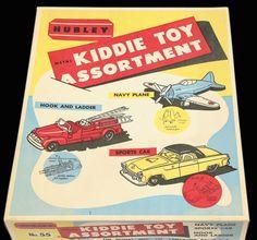 Hubley Metal Kiddie Toy Assortment Box