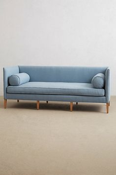 Love this color sofa and the clean lines.
