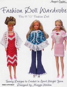 crochet doll clothes Sport-Weight yarns