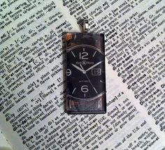 Watch Pendant Unisex Gifts for Her Him Black by TheGypsyShop, $6.00