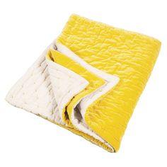 Chartreuse Yellow Velvet Throw | Velvet Blanket