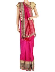 G3 Exclusive silk magenta saree Product Code: G3-WSA6444 Price: ₹ 20,980.00