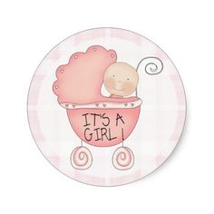 It's a Girl! Baby Announcement Sticker