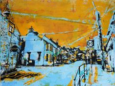 Orange Skies Newport Orange Sky, Newport, Artist, Painting, Painting Art, Paintings, Painted Canvas, Drawings, Artists