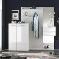 Genial Garderobe Weiss Hochglanz