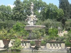 The Fountain of the Ocean by Giambologna in the #Boboli Gardens, also called the Isolotto. #Florence.
