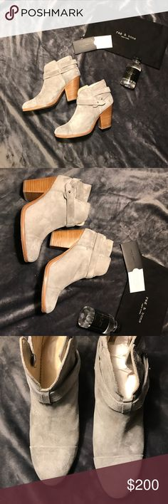 Rag and Bone grey Harrow boots Gorgeous boots. Worn 2 times. Excellent condition. light grey suede. Comes with authentic card and dust bag. Size 39 1/2 but will fit 8-8.5 as they run one size smaller rag & bone Shoes Ankle Boots & Booties