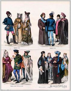 French Medieval Citizens Clothing King Henry VII Costume Duke Of Suffolk