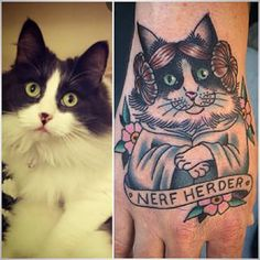 This Princess Leia cat. | 28 Classy Cat Tattoos Every Cat Lover Will Adore