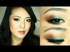 pop of teal eyes, this chick has super thorough details for any kind of makeup
