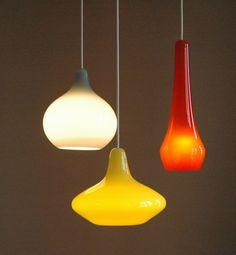 Holmegaard glass chandelier, Vintage danish design Louis Poulsen light lamp in Collectables, Vintage/ Retro, 1970s | eBay