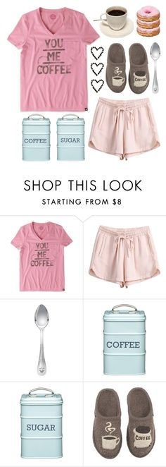 """""""Good Morning, Coffee!"""" by lgb321 ❤ liked on Polyvore featuring Life is good, Versace, Kitchen Craft, Haflinger, coffee and fashionset"""