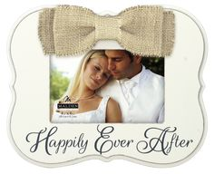 Happily Ever After Bow Picture Frame