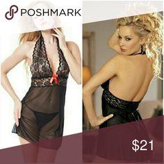 Womens Lady Sexy Lingerie Corset With G-string Underwear Sleepwear Set. Black. NWT Intimates & Sleepwear Panties
