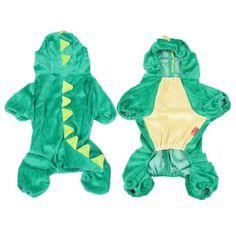 TOOGOOR Costume Party Plush Green Dinosaur Design Yorkie Dog Jumpsuit Apparel S -- For more information, visit image link-affiliate link.